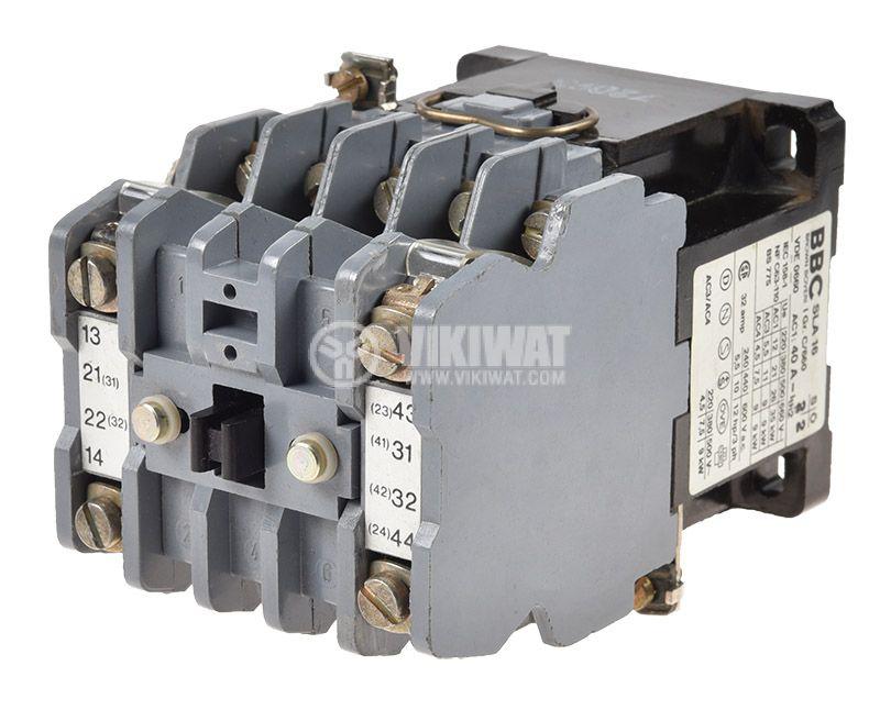 Контактор BBC SLA16, триполюсен, бобина 110VАC, 3P, 32A, 2NO+2NC - 1