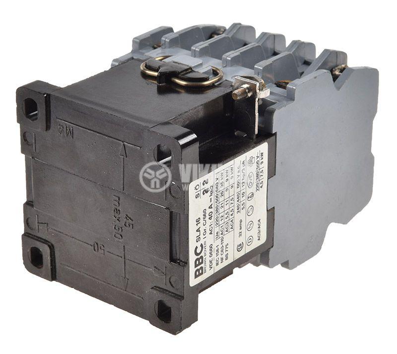 Контактор BBC SLA16, триполюсен, бобина 110VАC, 3P, 32A, 2NO+2NC - 3