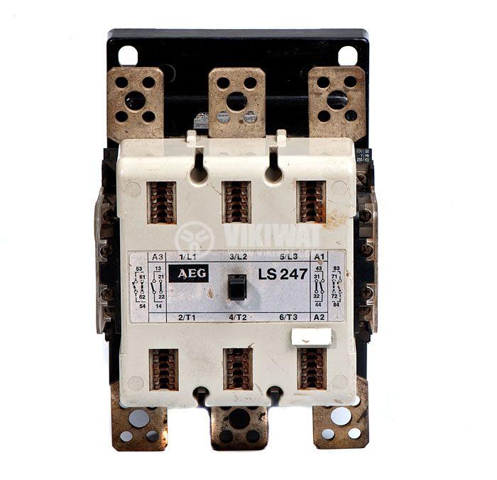 Contactor, three-phase, coil 220VАC, 3PST - 3NO, 320A, LS 247, 2NO+2NC - 2