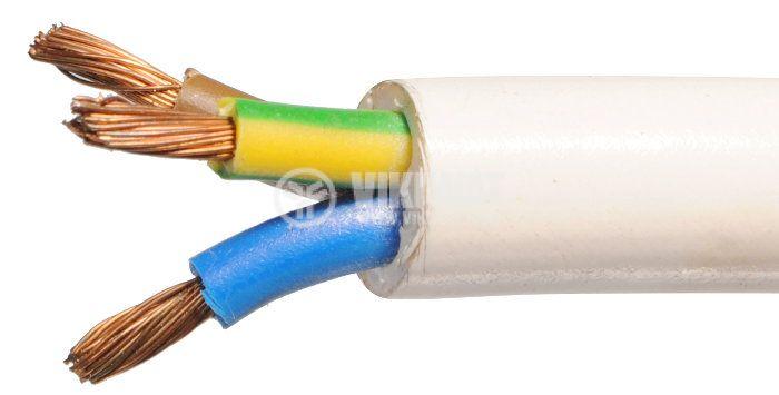 ШВПС кабел 3 х 2.5, бял