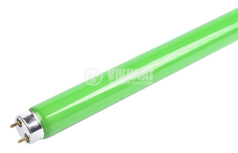 Луминесцентна тръба 18 W, T8, цветна, 600 mm жълта и зелена - 1