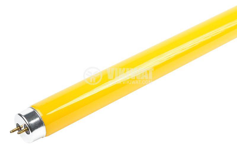 Луминесцентна тръба 18 W, T8, цветна, 600 mm жълта и зелена - 2