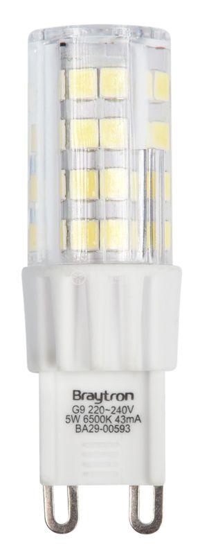 LED lamp 5W, G9, 420lm, 220VAC, 6500K, cold white, BA29-00593 - 2