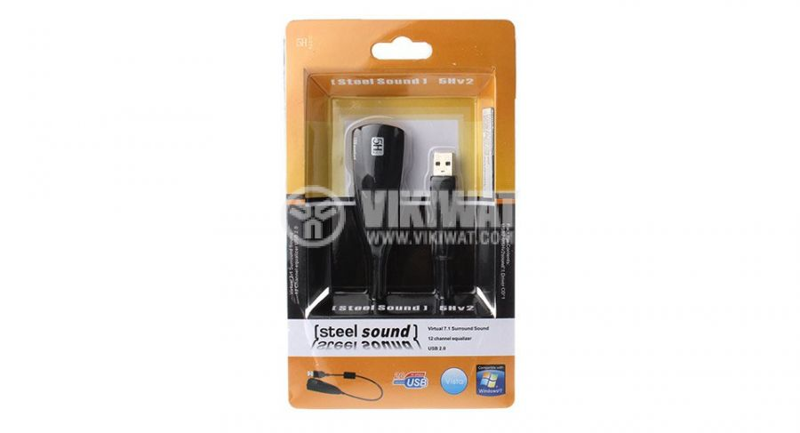 5HV2 USB 2.0 Virtual 7.1 Channel Audio External Sound Card Adapter - 2