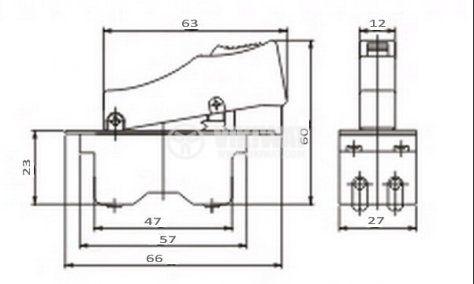 Електрически прекъсвач (ключ) за ръчни електроинструменти DKS25 15 A/250 VAC 2NO - 2