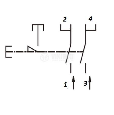 Електрически прекъсвач (ключ) за ръчни електроинструменти FA2-8/2W1 8A/250VAC 2NO - 4