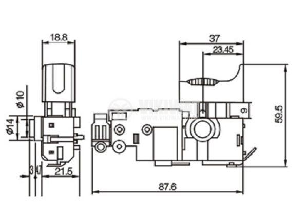 Електрически прекъсвач (ключ), регулатор на обороти за ръчни електроинструменти FA2-4/1BE-20C 4A/250VAC - 3