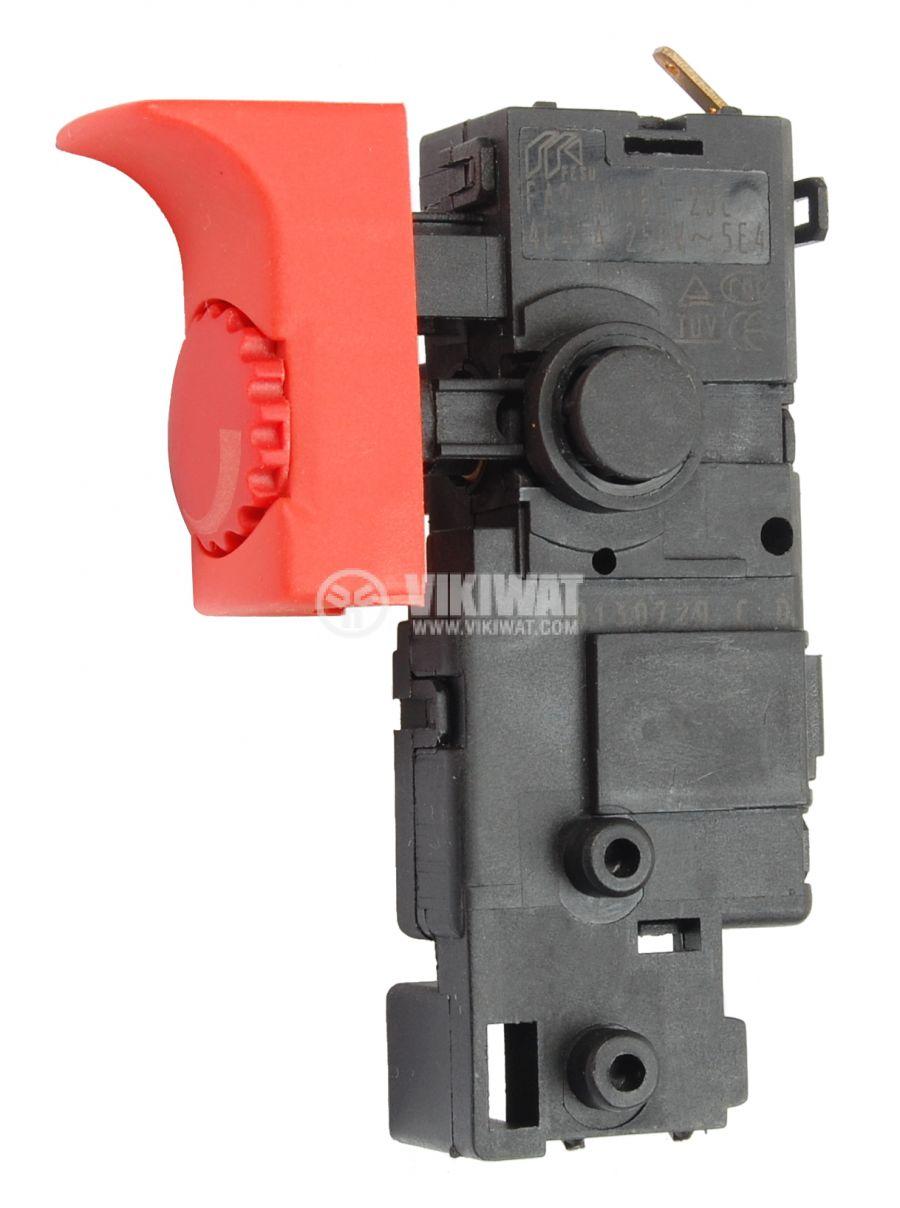 Електрически прекъсвач (ключ), регулатор на обороти за ръчни електроинструменти FA2-4/1BE-20C 4A/250VAC - 1
