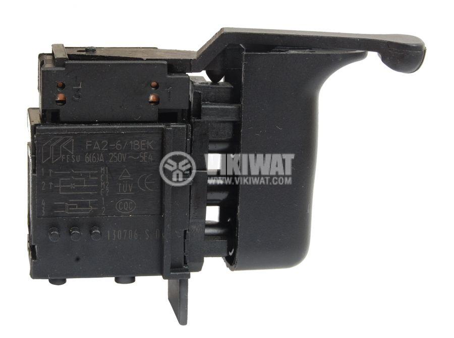 Електрически прекъсвач (ключ), регулатор на обороти и реверс за ръчни електроинструменти FA2-6/1BEK 6A/250VAC - 2