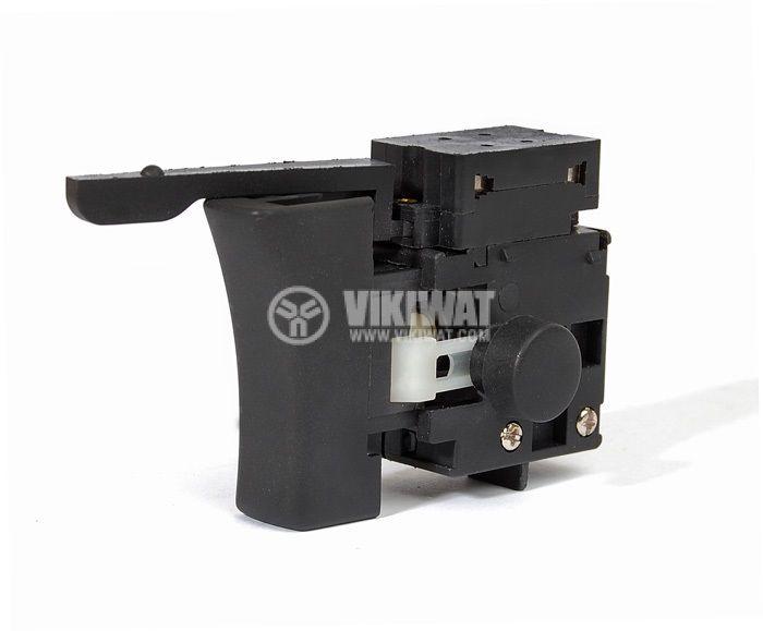 Електрически прекъсвач (ключ), регулатор на обороти и реверс за ръчни електроинструменти F2-4/1BE(E) 4A/250VAC - 1