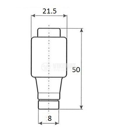 Керамичен бушон стопяем 10A 500V gG основа E27 - 2
