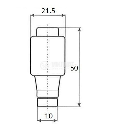 Bottle fuse, 16A, 500VAC, gG, E27 socket, ceramic - 3