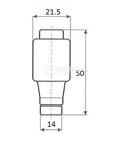 Предпазител, стопяем, ETI, 25A, 500VAC, gG, основа E27, керамичен - 2