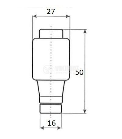 Керамичен бушон стопяем 35A 500V gG основа E33 - 2