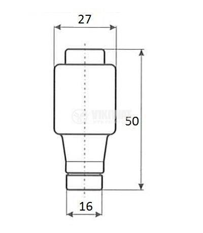 Bottle fuse, 35A, 500VAC, gG, E33 socket, ceramic - 2