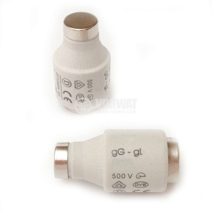 Керамичен стопяем предпазител  63A 500V gG E33 - 1