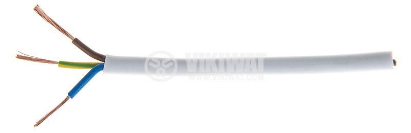 Кабел ШВПЛ 3х0.5mm2 бял   - 1