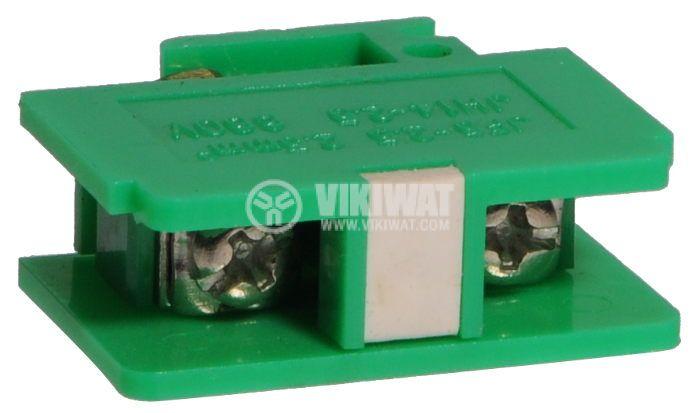 Редова клема, едноредова, JF5-2.5/1, 2.5mm2, 25A, 660V, зелена - 1