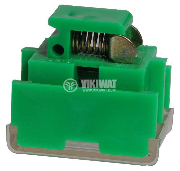 Редова клема, двуредова, JF5-2.5/2, 2.5mm2, 25A, 660V, зелена - 2