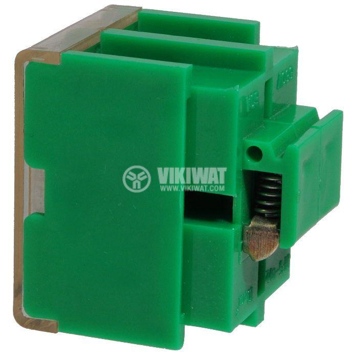 Terminal block JF5-10/2 10mm2, 60A, 660V, green, plastic - 2