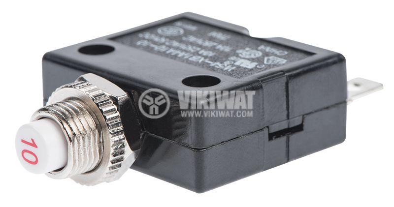 Токова защита, еднополюсна, W54-XB1A4A10-10, 10 A , 250 VAC - 2