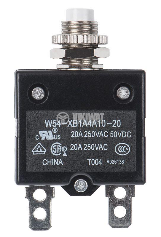 Токова защита, еднополюсна, W54-XB1A4A10-20, 20A , 250 VAC - 1