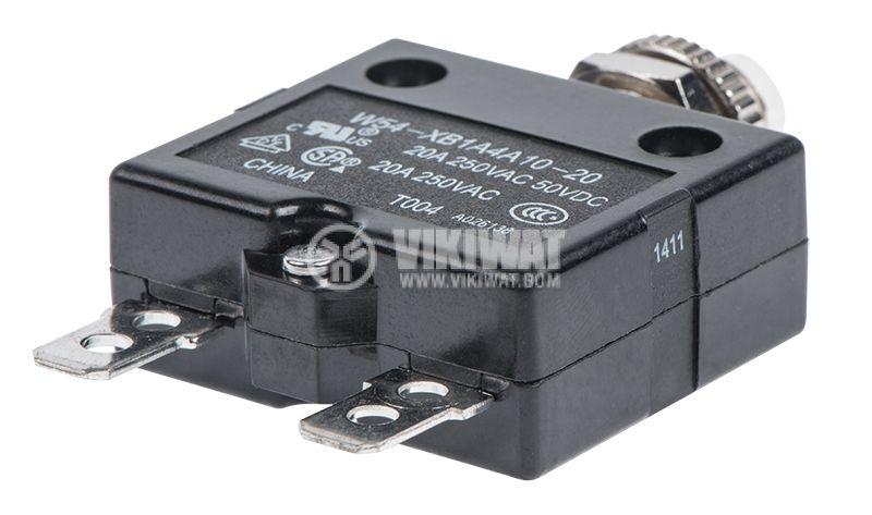 Токова защита, еднополюсна, W54-XB1A4A10-20, 20A , 250 VAC - 3