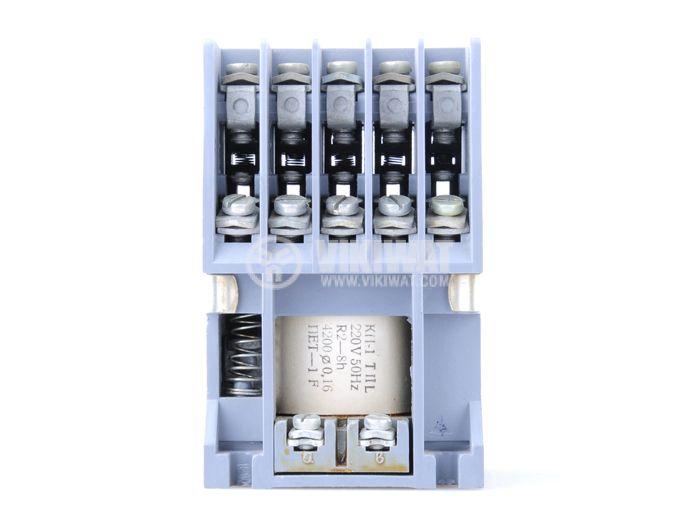 Contactor КП-1 ten-poles coil 220VAC, 5NO + 5NC 220VAC 6A, metal - 1
