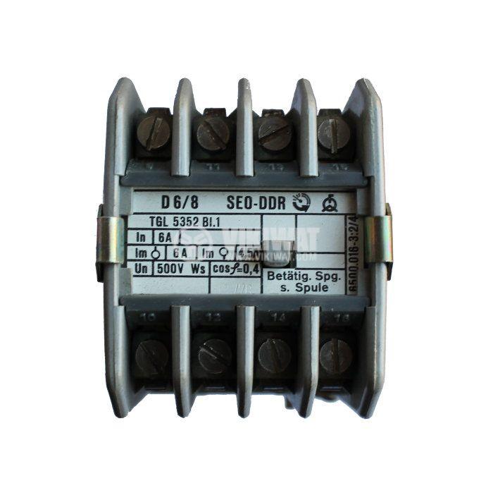 Contactor, eight-pole, coil 380VAC, 8PST - 4NO+4NC, 6A, SEO-DDR - 2