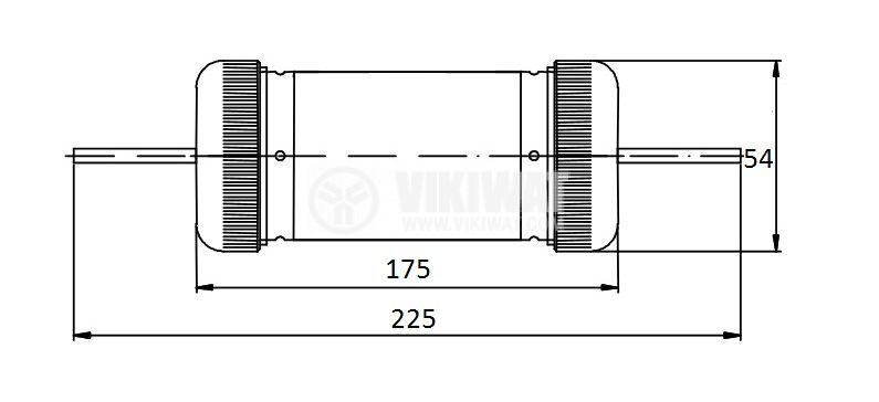 Fuse, ПР-2 ТЗ 100, 200A, 500VAC, gT, knifeblade - 2