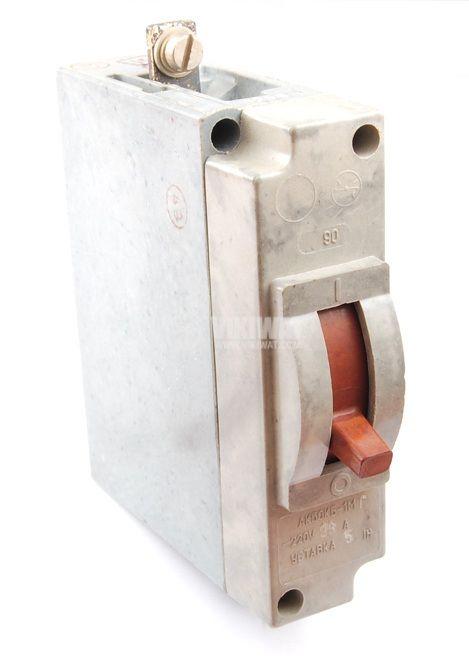 Предпазител, автоматичен, еднополюсен, 1x25A, АК50КБ-1М, C крива, обемен монтаж - 1