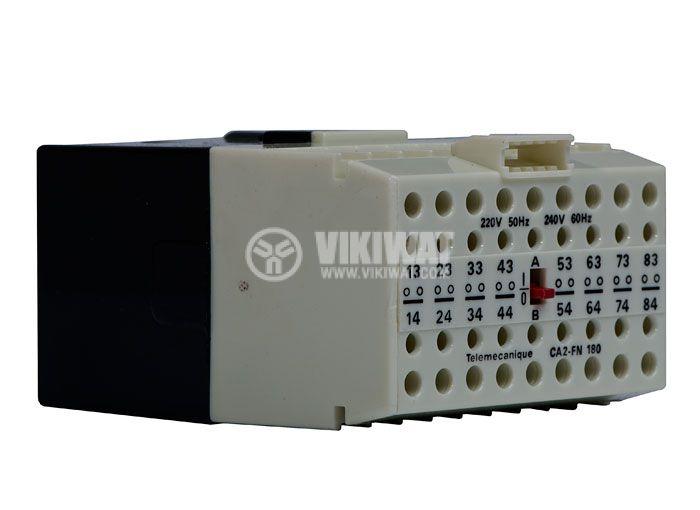 Контактор, осемполюсен, бобина 220VАC, 8PST - 8NO, 4A, CA2-FN180 - 1
