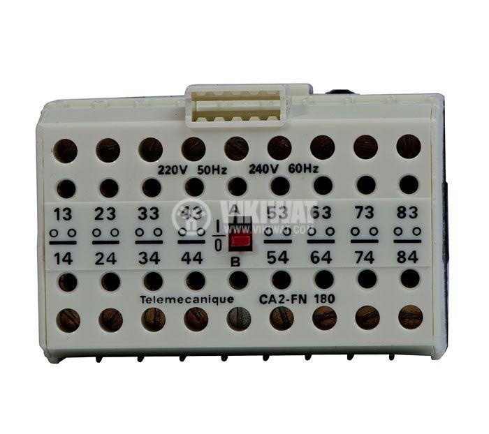Контактор, осемполюсен, бобина 220VАC, 8PST - 8NO, 4A, CA2-FN180 - 2