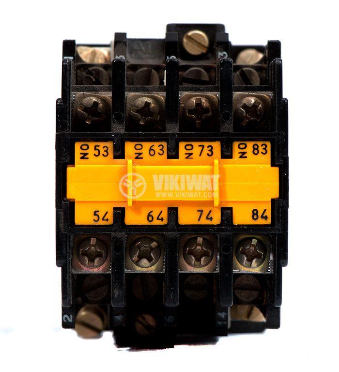 Контактор, четириполюсен, бобина 110VАC, 4PST - 4NO, 12A, LC1-D123, 4NO - 2