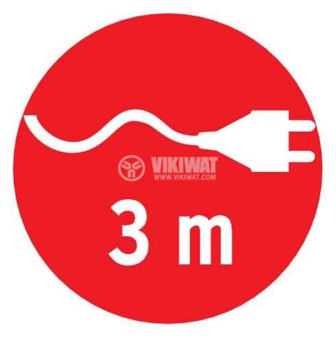 Разклонител 8-ца, Brennenstuhl, Eco-Line, 3m кабел, с ключ, бял, 1159320018 - 4