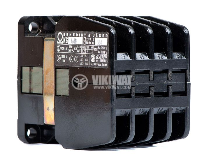 Contactor, three-phase, coil 220VАC, 3PST - 3NO, 10A, K16A10, NO - 1