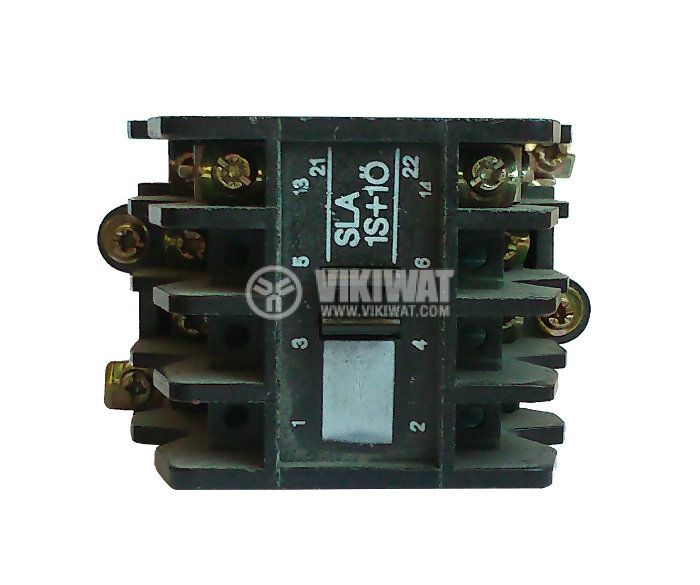 Contactor, four-pole, coil 220VAC, 4PST - 4NO, 12A, SLA7-1S10, NC - 2