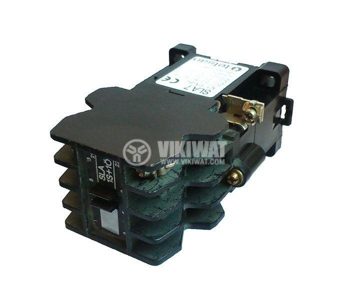 Contactor, four-pole, coil 220VAC, 4PST - 4NO, 12A, SLA7-1S10, NC - 3