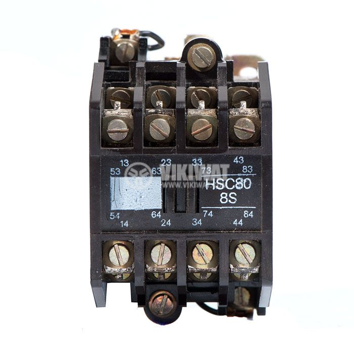 Contactor, eight-pole, coil 24VDC, 8PST - 8NO, 6A, VDE0660 - 2