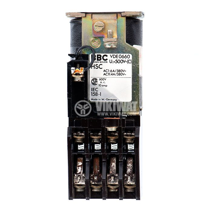 Contactor, eight-pole, coil 24VDC, 8PST - 8NO, 6A, VDE0660 - 3