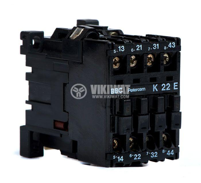 4 pole contactor k22e coil 220v 2no 2nc 4 a contactor three phase coil 24vdc 3pst no 2nc 4a