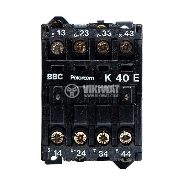 Контактор, трифазен, бобина 220VAC, 4PST - 4NO, 4A, K40E - 2