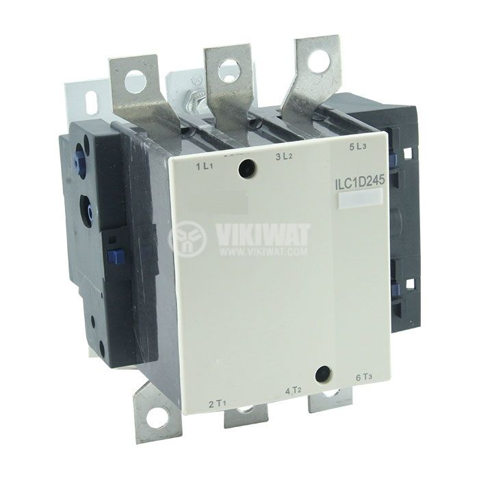 Contactor, three-phase, coil 380VAC, 3PST - 3NO, 245A, CJX2-D245 - 1