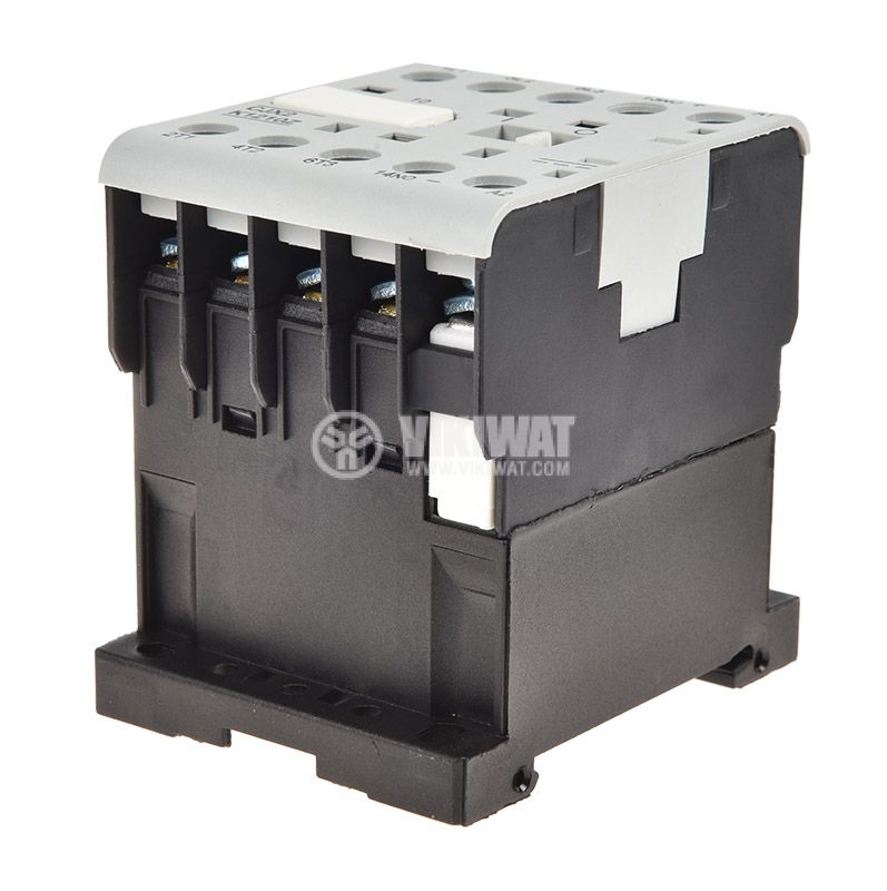 Contactor, three-phase, coil  24VDC, 3PST - 3NO, 12A, CJX2-K1210Z, NO - 3