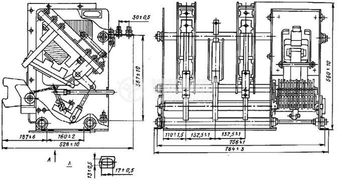 Contactor КВ-2М-6-100-1 0У2 3p 1500А 220VAC, 330kW - 2