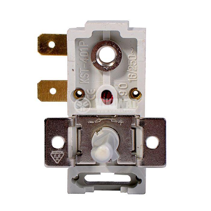 Bimetal Thermostat adjustable, KST-401, 10°C-60°C, NC, 16A/250VAC - 1