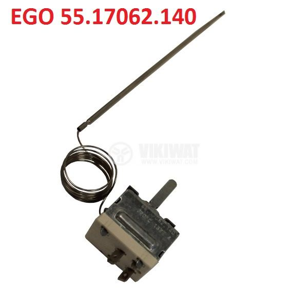 Capillary thermostat, EGO 55.17062.140 +50 °C to +320 °C, NC, 16 A / 250 VAC - 2
