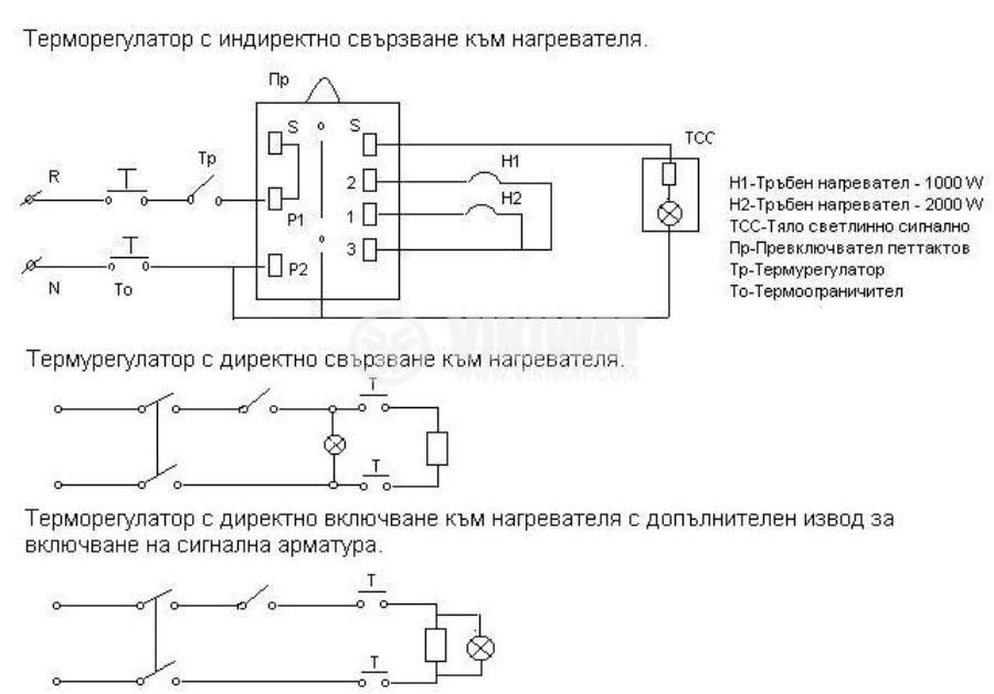 Терморегулатор, за бойлер, РАСТ, 20°C до +72°C, 2NC, 16 A / 250 VAC, осезател 265 mm - 3