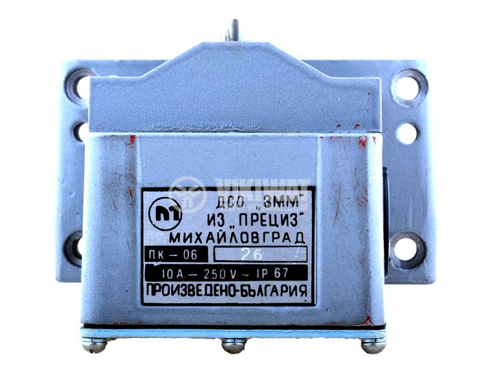 Limit road packet switch ПК-06, 12SPST-6NO+6NC, 10A/250VAC, pusher - 4