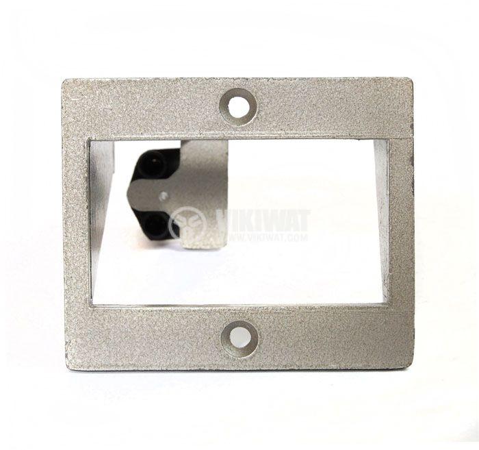 Рамка за брояч BX-3, метална, с цокъл - 1